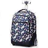 Trolley Rucksack Schulrucksack Kinder Multifunktionaler Rucksack Schultaschen Koffer 19' Laptop Reise Schule Geschäft Rucksack Für Jungen und Mädchen