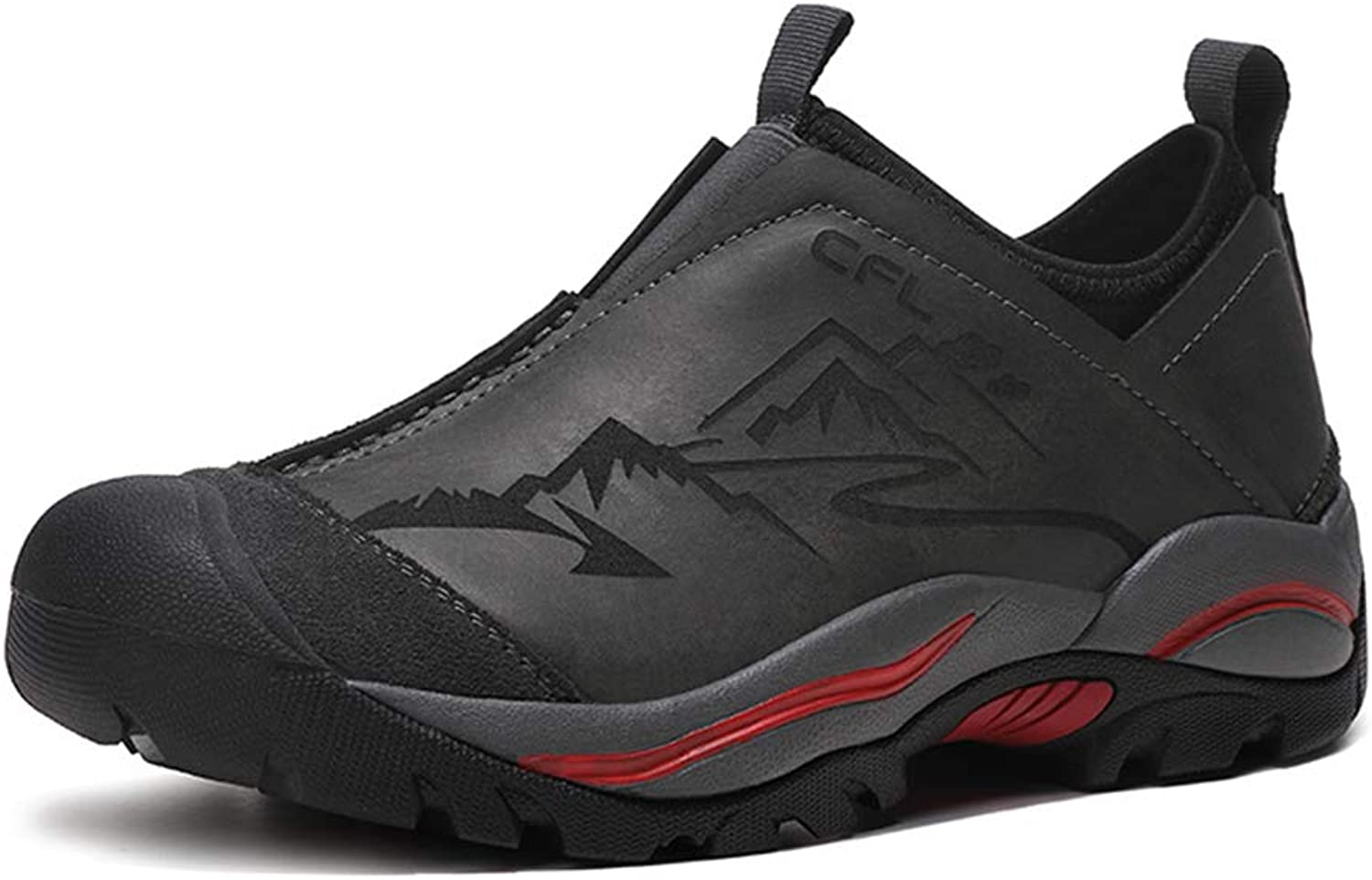 Men's Hiking shoes Outdoor Casual shoes Fall Winter Leather Mountain Camping shoes Tourism Fitness Running shoes,C,41
