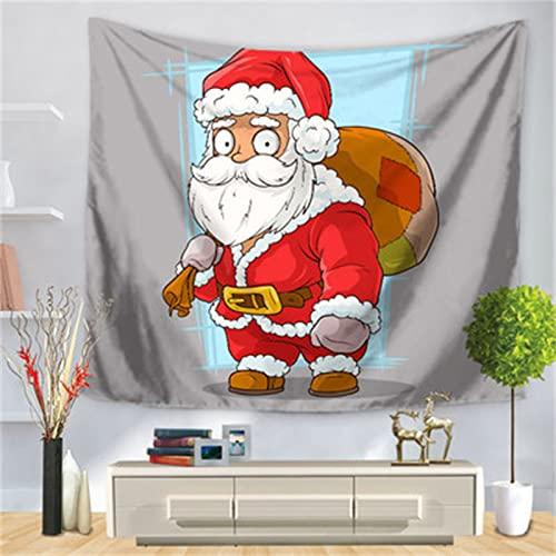 YYRAIN Navidad Poliéster Hogar Pared Arte Decoración Paño Bar Banquete Navidad Pared Tapiz Mantel Multifuncional 91x59 Inch[230x150cm]