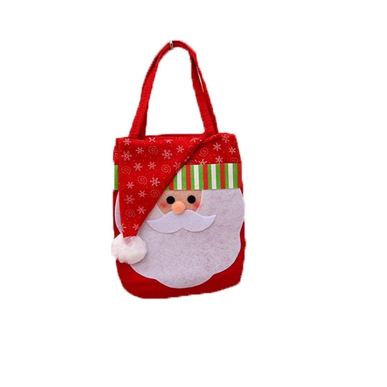 司教セットアップ会議Tivollyff クリスマス 飾り Chrismasのサンタクロースキッズキャンディギフトバッグハンドバッグポーチウェディング袋のプレゼント袋クリスマスの装飾かわいいサンタのギフトバッグ 赤