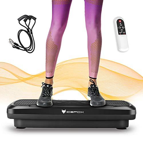 icefox Placa Vibratoria Fitness, Unisex-Adult, Blanco, 9