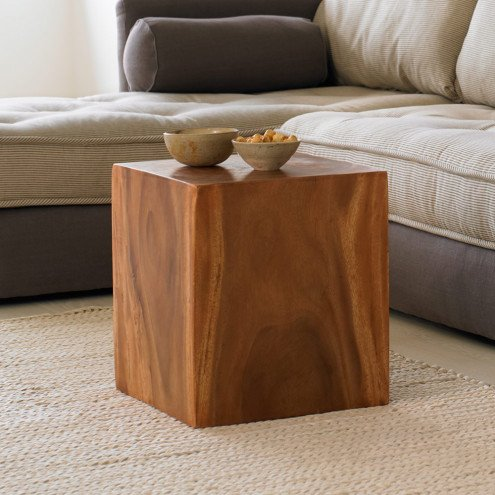 Vivaterra Convertible Wood Cube Accent Tables (1)