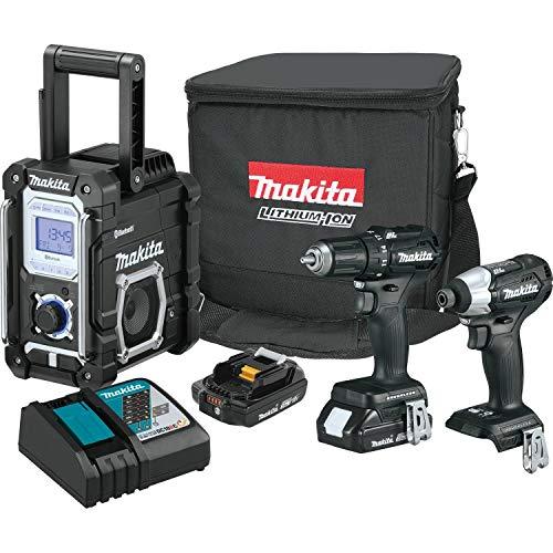 Makita CX301RB 2.0Ah 18V LXT Lithium-Ion Sub-Compact Brushless Cordless Combo Kit (3 Piece), Black
