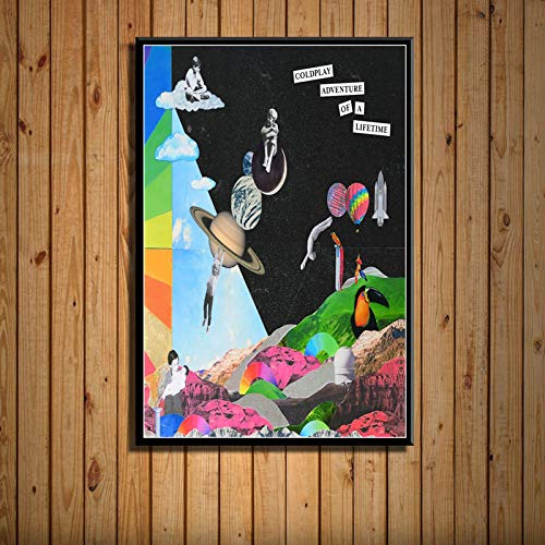 zhuifengshaonian Coldplay A Head Full of Dreams Album Musik Cover Sänger Star Kunst Malerei Leinwand Poster Wand Wohnkultur(ZE-112) Kein Rahmen Poster 40x60cm
