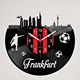 Gravinci Schallplatten-Wanduhr Frankfurt Fan