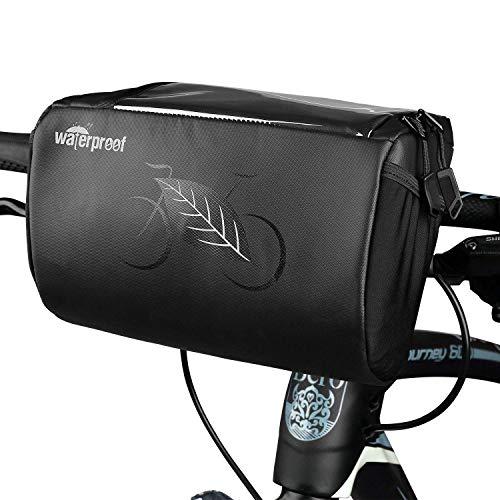 Achort Bolso del Manillar de la Bici, 3L Bolsa de Almacenamiento Delantera de la Bicicleta de la Cesta de la Bici de la Prenda Impermeable con la Bolsa de la Pantalla Táctil del Teléfono Móvil