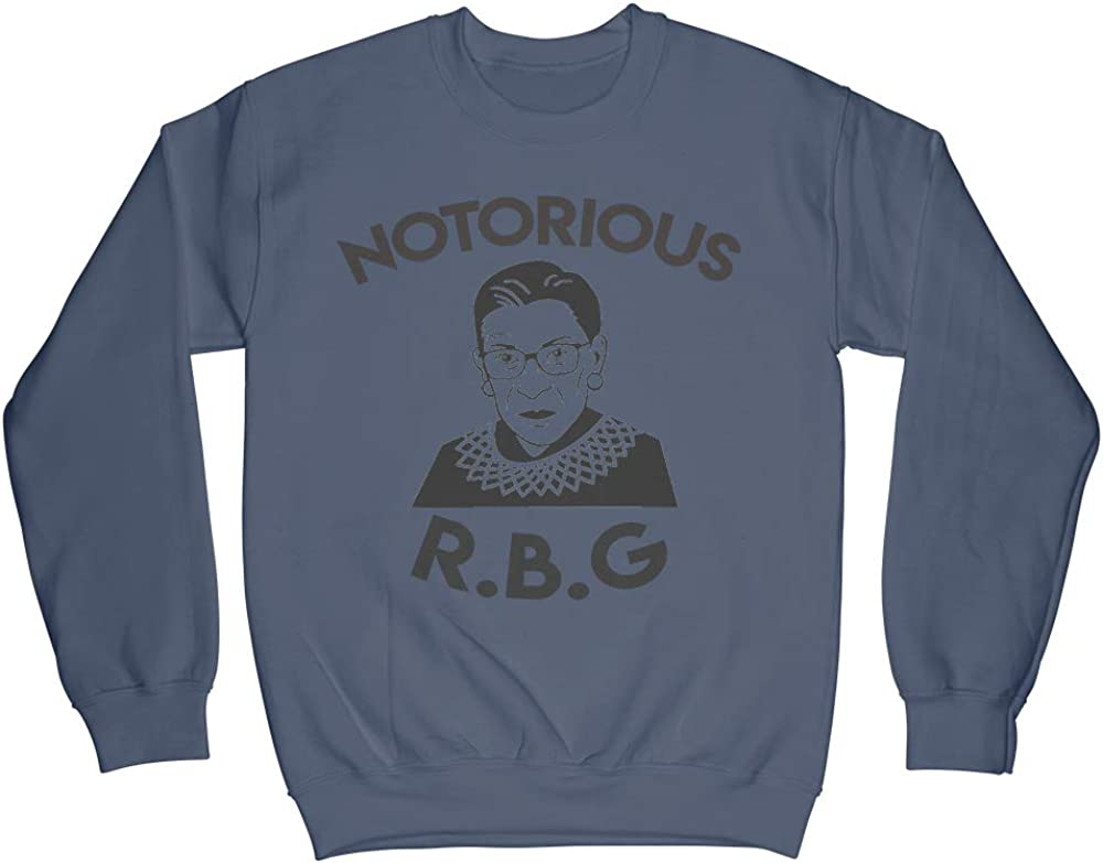 Political Winter Fashion Notorious R.B.G Unisex Crewneck Sweater Hes A Keeper Ruth Bader Ginsburg Memorial Sweatshirt