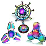 Toys For 4-12 Years Old Kids Party Favors Fidget Finger Hand Spinner Alloy Metal Small Gadget Desk Toys Spinning Top Focus Spiral Twister Fingertip Gyro Stress Relief ADD ADHD EDC Anti Anxiety Gift