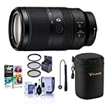 Sony E 70-350mm f/4.5-6.3 G OSS Lens - Bundle with Lens Case, 67mm Filter KIt, Capleash II, Cleaning kit, Pc Software Package