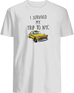 I survived my trip to nyc spiderman homecoming tom holland T-shirt lightweight fabric with great stretch