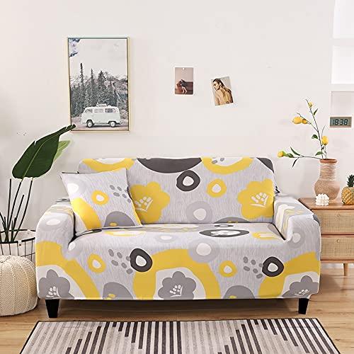 WXQY Impresión de la Sala de Estar Funda de sofá elástica Antideslizante Europea Cuatro Estaciones Funda de sofá Universal Funda de sofá A4 4 plazas