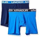 Under Armour Men's Mesh Series 6-inch Boxerjock 2-Pack, Mediterranean (437)/Academy Blue, Large