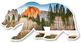 IT'S A SKIN California Bear Half Dome Yosemite | Vinyl Sticker Decal for Laptop Tumbler Car Notebook Window or Wall | Funny Novelty Decal