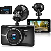 """OldShark Dash Cam with 32GB Card, 3"""" 1080P HD Car Recorder 170 Wide Angle Night Vison Dashboard Camera with G-Sensor, Loop Recording, WDR, Parking Guard"""