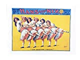 Die Dancing chicks- Retro Stil Theater Poster Stil Groß