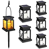 Best LED Lanterns - 6-Pack Solar Hanging Lantern , Candle Flickering Flame Review