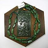LJ 5018 - Collar con Colgante de dragón y pez Tallado a Mano con diseño de nefrita hetiana y nefrita