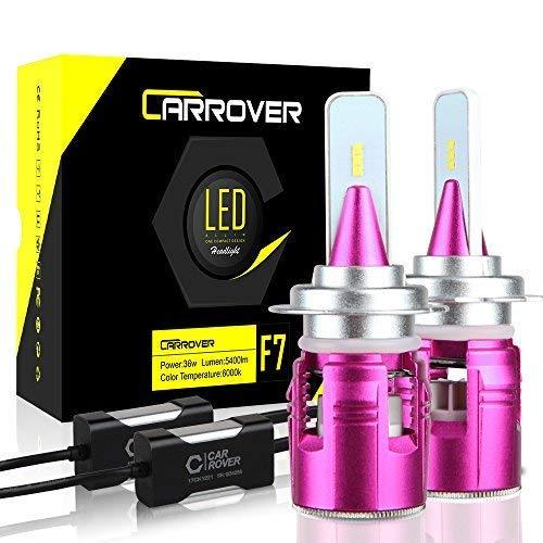 CAR ROVER Bombillas H7 LED 10800 lm faros delanteros o antiniebla para coche, kit de sustitución para halógeno Xenon Luci-12 V-24 V lámpara 6000 K blanco