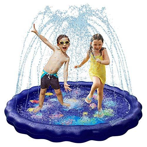 Almohadilla para Rociadores De Agua De 68'para Niños, Alfombrilla Inflable para Salpicaduras, Patio Trasero, Juguetes para La Piscina con Espray Agua para Fiestas
