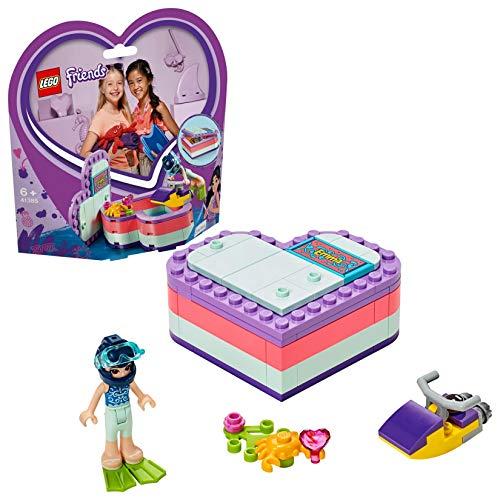 LEGO Friends - Caja Corazón de Verano de Emma, Juguete con Mini Muñeca de Construcción para Niñas y Niños a Partir de 6 Años, Incluye Figura de Cangrejo (41385)