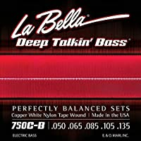 LA BELLA (ラベラ) 5弦ベース弦 750C-B Copper White Nylon Tape 5-String Light