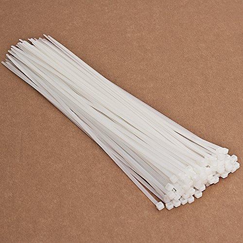 Kabelbinder 100 St Länge 370 mm Breite 4,8 mm (Weiß) Tragkraft 22,2 kg