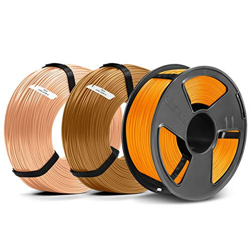 SUNLU Filament 1.75mm PLA 3D Drucker Filament PLA MasterSpool Filament 3KG PLA Orange+Browm+Skin