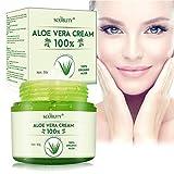 Aloe Vera Creme,Aloe Vera Gesichtscreme,Aloe Vera Körpercreme,Feuchtigkeitscreme Hautpflege für Gesicht,trockene Haut,Körper,Sonnenbrand
