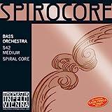 Thomastik Cuerdas para Contrabajo Spirocore alma en espiral afinación Orquesta juego 4/4 mediana hasta escala 1100 mm / 43.3'