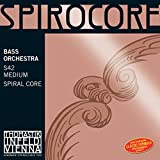 Cordes Thomastik Contrebasse Spirocore Noyau spirale Accord d'orchestre. 4/4; Ré Moyen