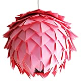 Rosa Harlekin, Ø 35cm, rosa Lampe Leuchte Lampenschirm Pendellampe Pendelleuchte Hängelampe...
