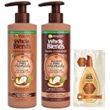 Garnier Haircare Whole Blends Sulfate Free Remedy Coconut Oil and Cocoa Butter Taming Shampoo and Conditioner,Tames and Smooths Very Frizzy Hair,12 fl oz ea, with Mask Sample(Package May Vary)1 Kit