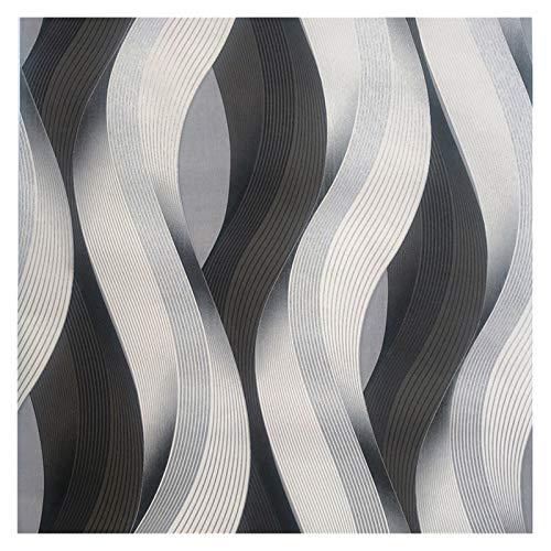YZZ Textura metálica Wallpaper Roll Rayas geométricas Patrón Moderno Moda Vinilo Papel de Pared Sala de Estar Dormitorio Bar Bar Bar Fondo Pared