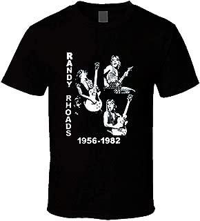 Mens Randy Rhoads Triple Photos Tribute Rock & Roll Music T Shirt