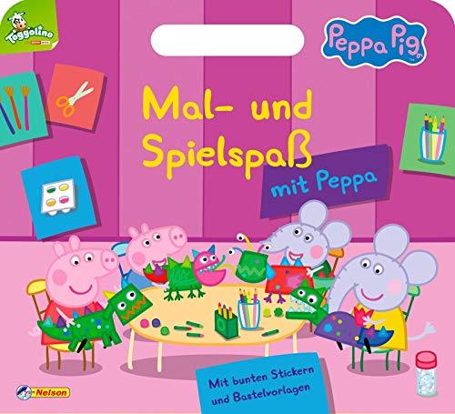 Peppa: Mal- und Spielspaß mit Peppa: Mit praktischem Tragegriff, bunten Stickern und Bastelvorlagen (Peppa Pig)