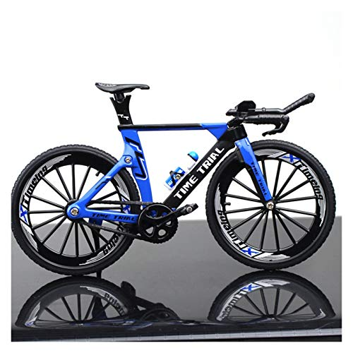 New Mini 1:10 Alloy Model Bicycle Diecast Metal Finger Mountain Bike Racing Simulation Adult Collection Gifts Toys For Children (Color : Black)