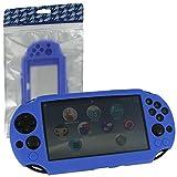 ZedLabz SC-1 silicone skin protector gel cover case for Sony PS Vita 2000 Slim - blue