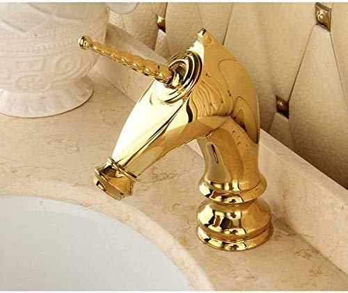 - Ja. Basin kraan messing wastafel mixer kraan warm en koud waterval badkamer kraan enkele handvat bekken gemonteerd op platform paard gevormde kraan kraan kraan