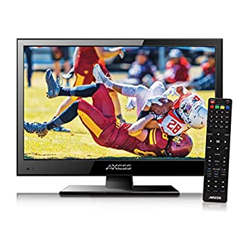 Axess TVD1805-15 LED HDTV Includes AC/DC TV DVD Player HDMI/SD/USB Inputs Wall Mountable Stereo Speaker  15.6 Inch