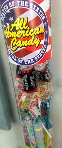 Holland Plastics Original Brand Schmeckt der Staaten! All American Candy-halben Meter Rohr voller spannender amerikanischen Süßigkeiten!