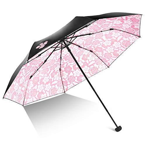 LYX® Paradise umbrella Illustrator umbrella protección solar sombrilla sombrilla plegable paraguas paraguas plegable ultraligero sombrilla solar protección UV personalidad creativa tres veces vinilo e