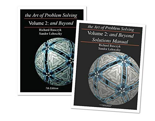 Art of Problem Solving: Volume 2 Text & Solutions Books Set (2 Books) - Volume 2 Text & Volume 2...