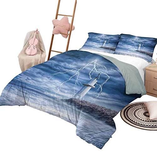 Decoración del faro Juego de sábanas nórdicas de 3 piezas Juego de...