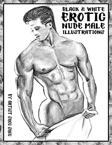 Black & White Erotic Nude Male Illustrations