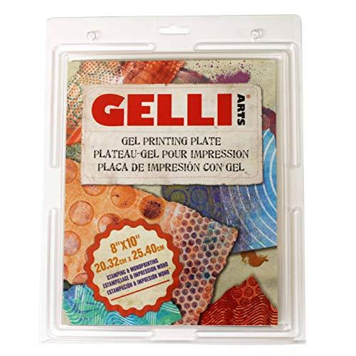 Gelli-Kunstplatte 20 cm x 25 cm, Mehrfarbig.
