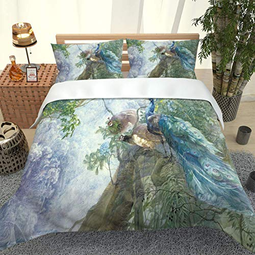 Oukeep 3D Realistic Digital Printing Duvet Cover Set Bring 2 Pillowcases European Style Stylish And Personalized Decorative Bedding Warm And Cosy