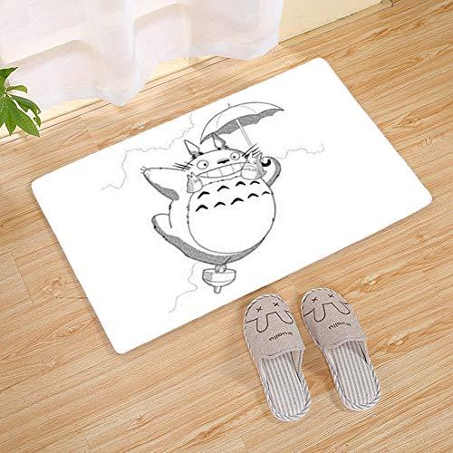 Felpudo Colección Rectangular Totoro Patrón Felpudo, Estera Antideslizante 10.11 (Color : C, Size : 45x120cm)