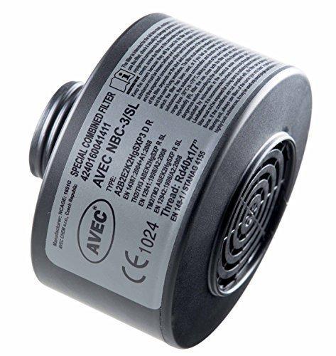 AVEC ABC Filter Spezial Hochleistungsfilter für Vollmaske - Zivilschutzfilter mit Sonderzulassung gegen Phosgen und Chlorpikrin (Grünkreuz) Filterklasse NBC-3/SL A2B2E2K2HgSXP3 R D (CBRN NBC)