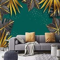 mzznz カスタム3D熱帯植物背景壁紙壁画-150X120Cm