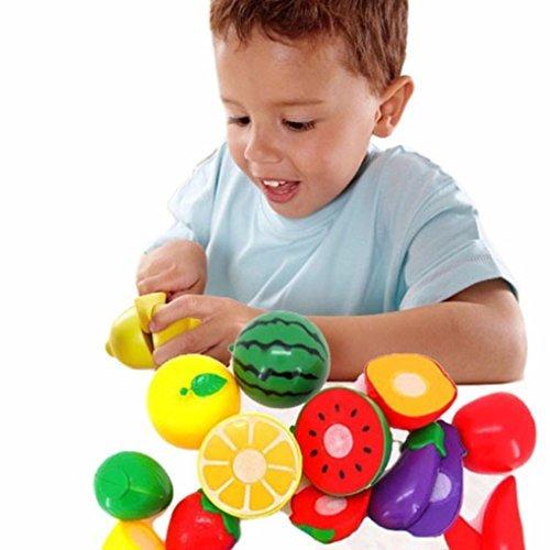 Vovotrade 1Set taglio Frutta Verdure Pretend Gioca bambini del capretto giocattolo educativo